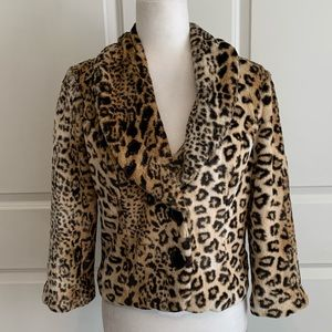 Heart Soul Faux Fur Cheetah Jacket